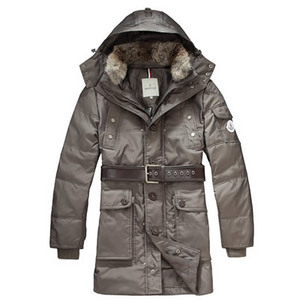 DG8925 Mens Moncler Jassen Hooded omlaag Mid -length Nigger Brown [bdbc]