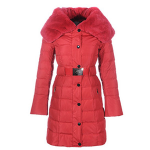 DG1928 nieuwe Vrouwen Moncler Single - breasted Lange Down Jassen Red [899c]