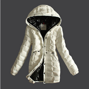 Moncler Breasted Pure Color vrouwen omlaag Coats White DG5791 [f044]