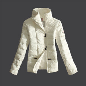 DG4735 Womens Moncler Jassen Down With No Hat Pure Color White [2f85]