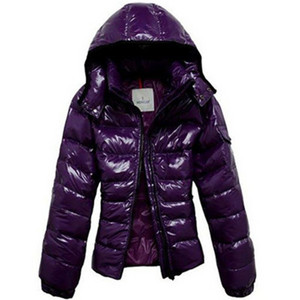 DG8919 Moncler Mabel Dames Jassen Quilted Hooded Purple [090d]