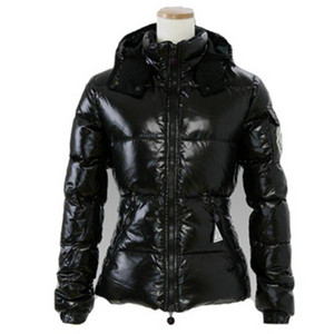 Moncler Badia Womens Fashion Down Jacket Hooded Black DG2111 [bf8a]