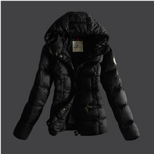 Womens Moncler donsjacks Pure Color Black DG8176 [2abc]