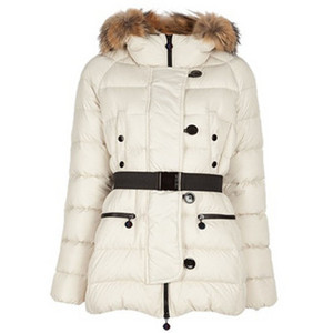 Womens Moncler Padded Dames Down Jassen White DG3491 [93d0]