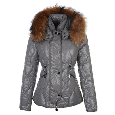 Moncler Lontre Womens Down Jassen Shiny Grey DG2258 [fd45]