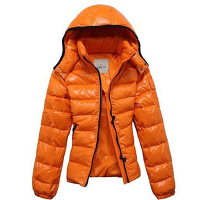 Moncler Mabel Dames Jassen Quilted Hooded Orange DG4189 [2e86]